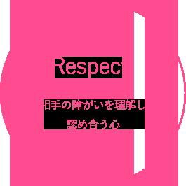 Respect 相手の障がいを理解し、認め合う心